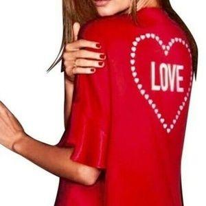 Victoria Secret Kimono Heart Robe Satin Ruffle